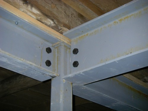 New Steel Beam Support